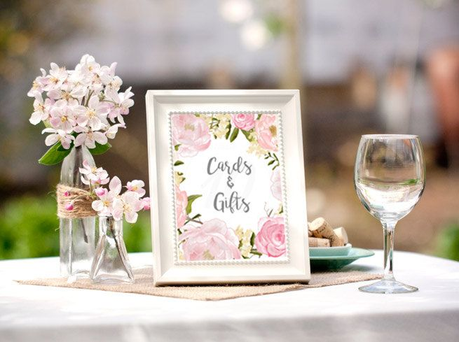 Bridal Shower Table Signs Bridal Shower Decorations Bridal