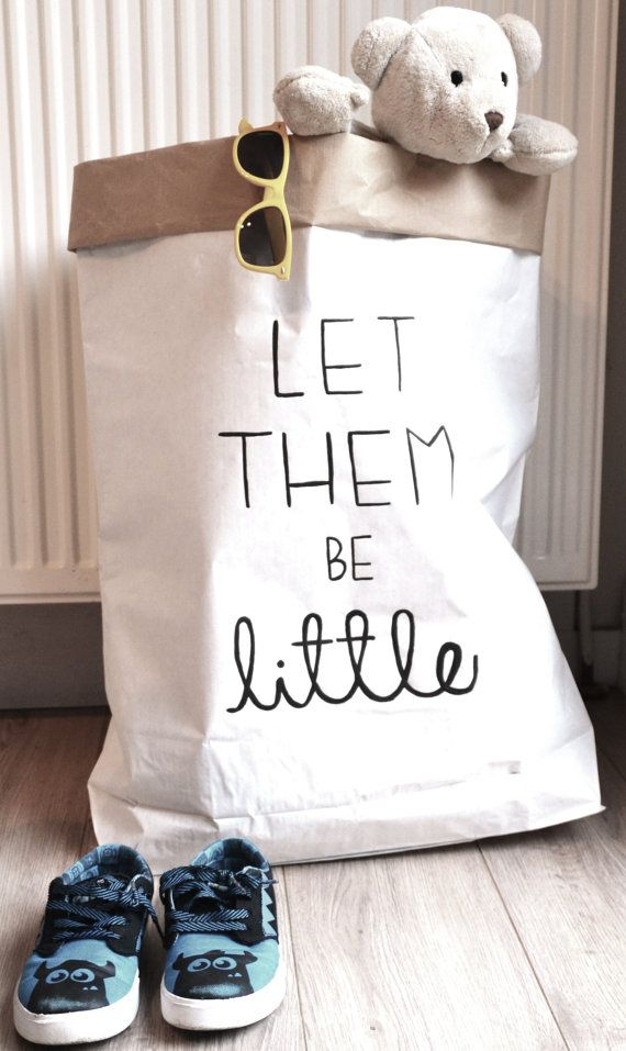 Let them be little paper bag// hand painted door makeitbylotsofjess