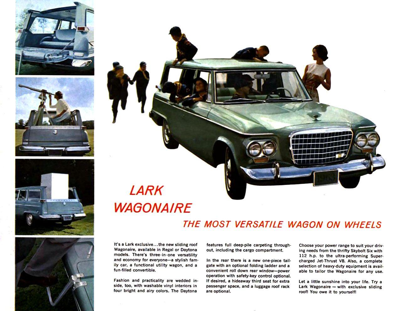 1963 Studebaker Lark Wagonaire Studebaker American Sports Cool Cars