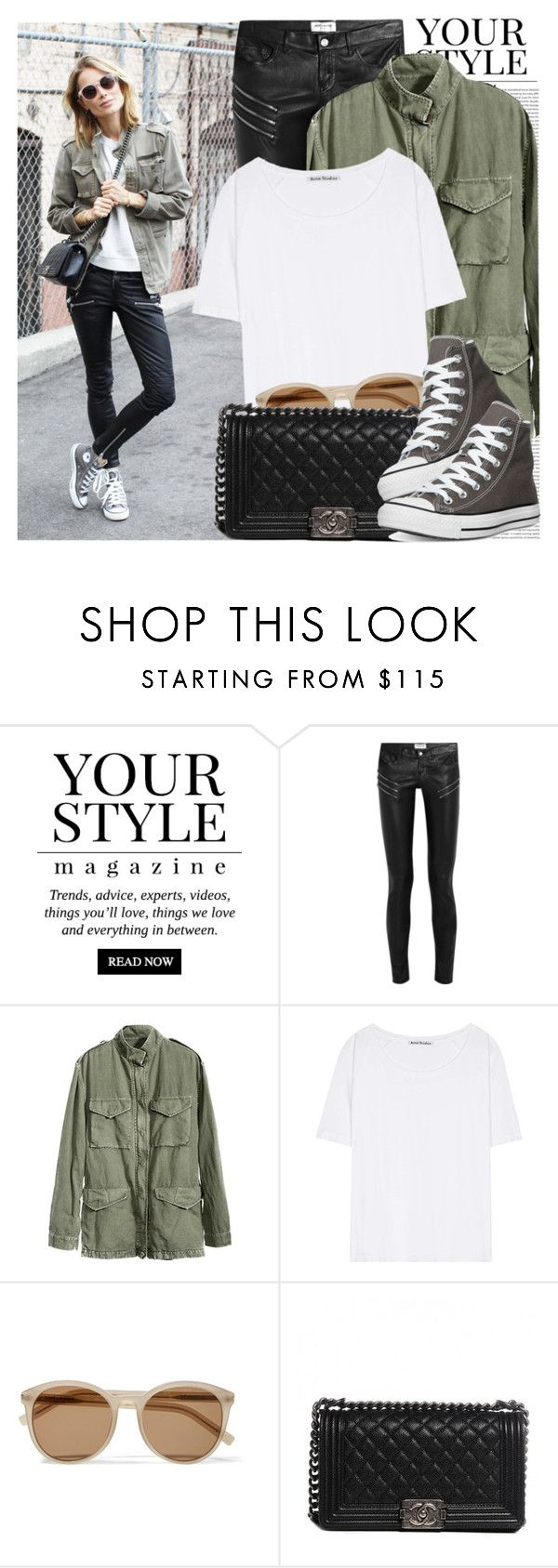 """2285. Blogger Style: Aninie's World"" by chocolatepumma ❤ liked on Polyvore featuring Pussycat, Oris, Yves Saint Laurent, Acne Studios, Chanel and Converse"