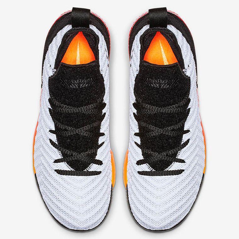 buy popular 0e8c6 611af Nike LeBron 16 Kids White Red Orange Black Release Date
