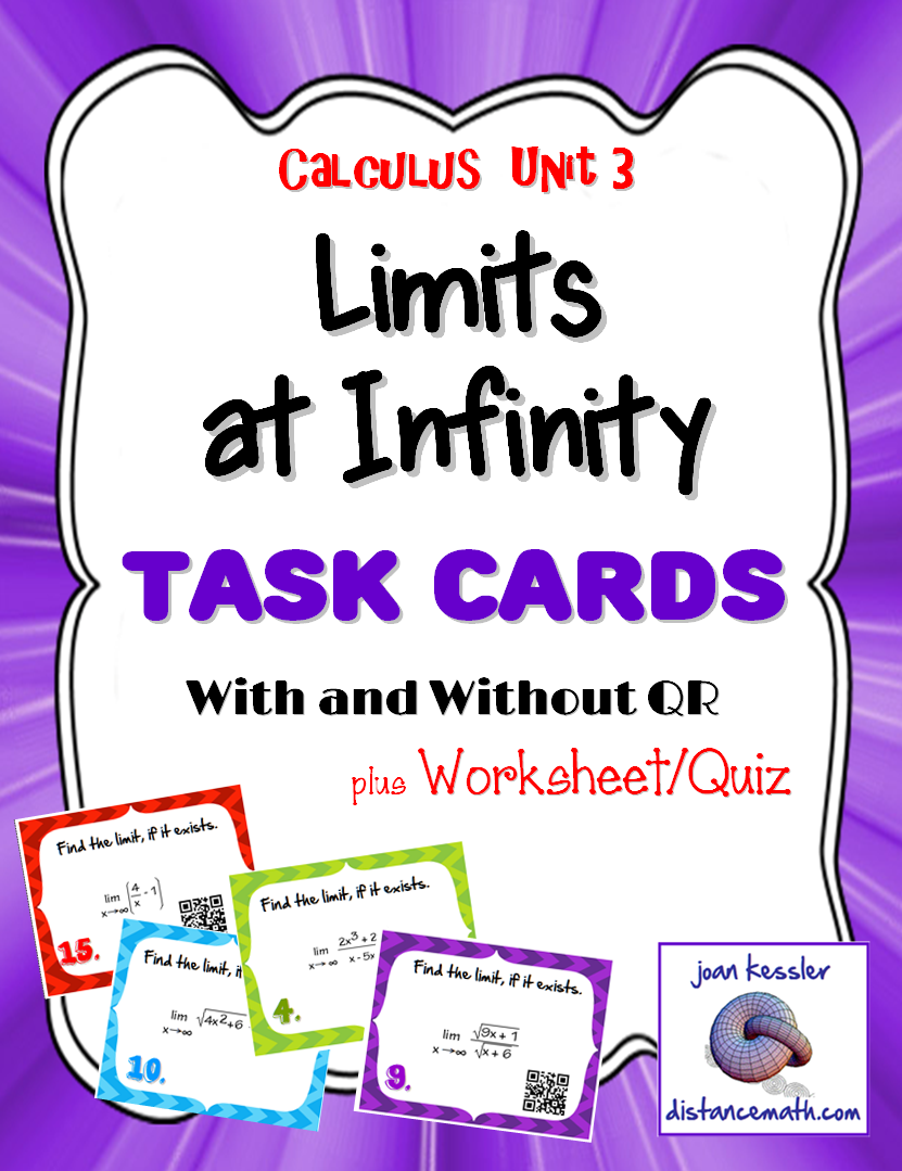 Calculus Limits and Continuity Sort Match Activity – Limits at Infinity Worksheet