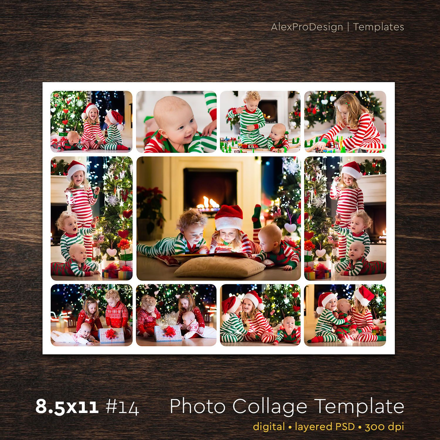Photo Collage Template 85 X 12 14 11 Photo Storyboard Template