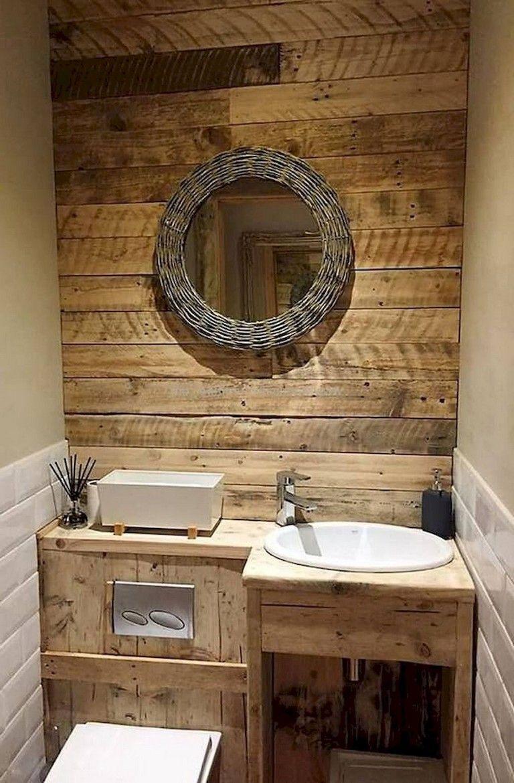 85 Admirable Tiny House Bathroom Shower Design Ideas Em 2020 Banheiros Rusticos Pequenos Diy Casa E Decoracao Decoracao Banheiro