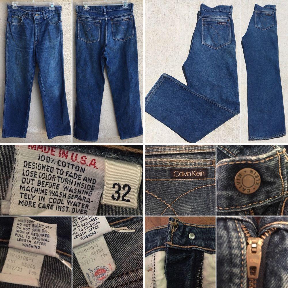 Vintage Calvin Klein Jeans Union Label Made In Usa Sz 32 30 Waist 70s 80s Men S Ebay Vintage Clothing Men Vintage Vintage Outfits