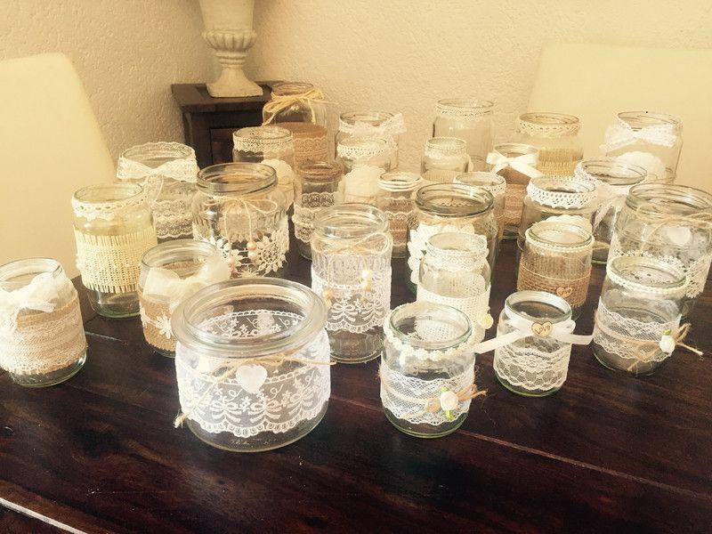 Vintage Dekoset Hochzeit Vasen Teelichter 30 St Ck
