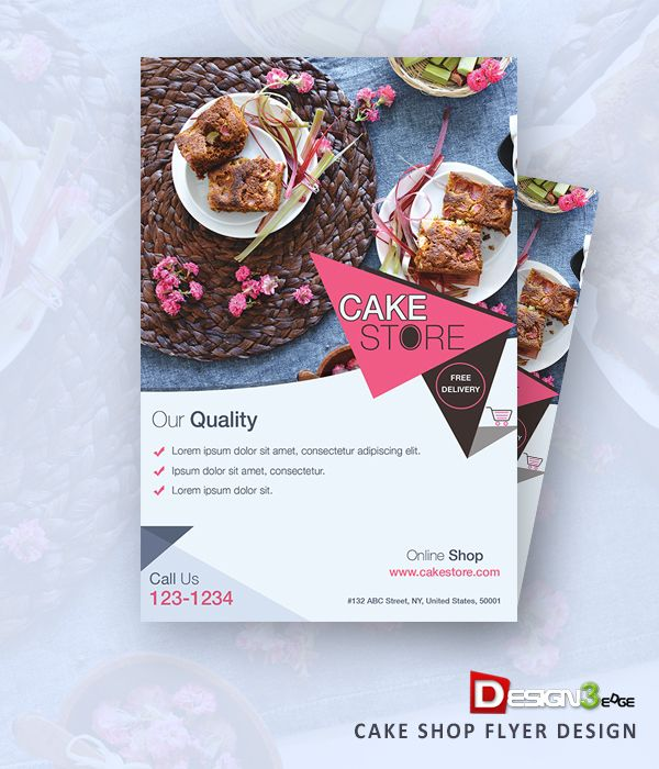 Cake Flyer Design Food Free Graphic Psd Resource Template