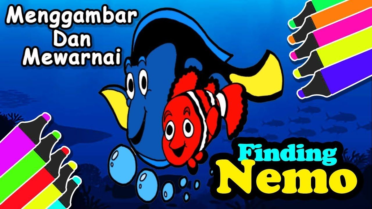 Menggambar Finding Nemo Buat Anak Gambar Ikan Nemo Finding Nemo