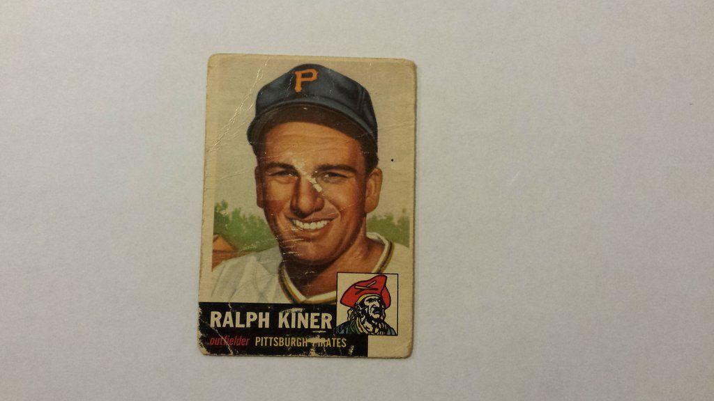 1953 topps ralph kiner single baseball card baseball