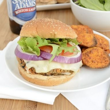 Sweet Potato Black Bean Burgers.  Sounds awesome but a little high on the cals for a veggie burger so watch the protion.