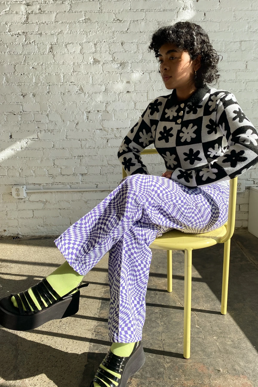 Photo of Robyn Jean – Purple Warp Check/White