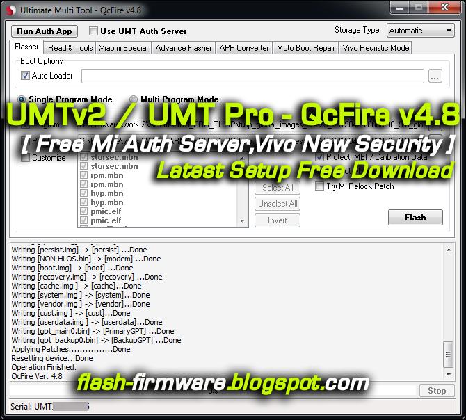 DownloadUMTv2 / UMT Pro - QcFire v4 8Latest Setup Feature