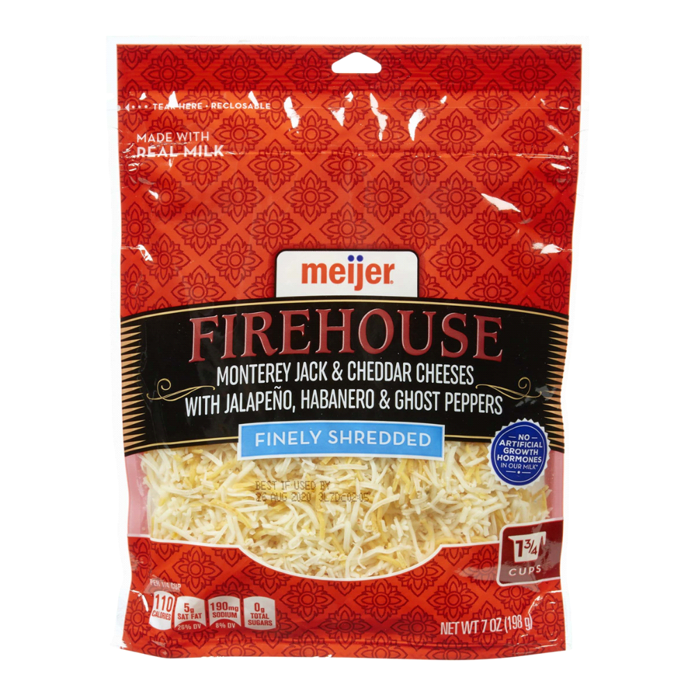 Meijer Ghost Pepper Jalapeno And Habanero Shredded Cheese 7 Oz Shredded Cheese Meijer Grocery Pharmacy Home Mor Stuffed Peppers Ghost Peppers Habanero