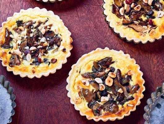 Tartelettes champignons & noisettes | Mini tarte, Recettes ...