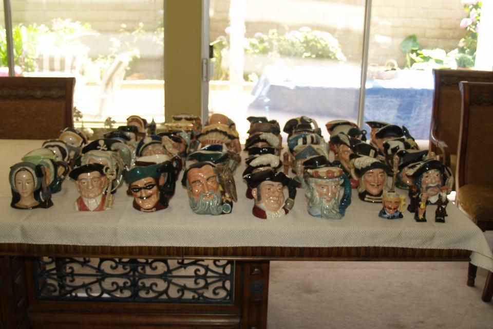 49 piece Royal Daulton Toby Mugs Contact Kendra Shattles at 714-369-5863 Huntington Beach   49 piece Royal Daulton Toby Mug Collection all excellent condition