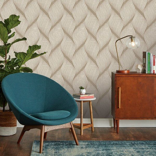 Tempaper Wave Peel and Stick Wallpaper Roll Perigold