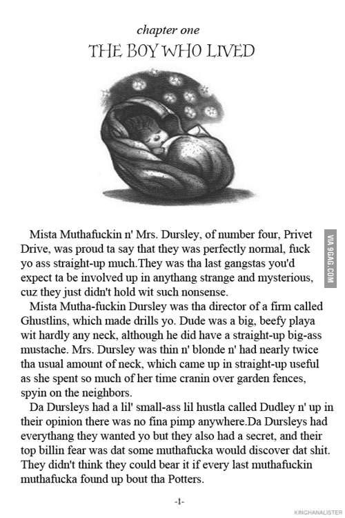 First Page From Harry Potter Gangsta Version Harry Potter Love Harry Potter Universal Harry Potter Obsession