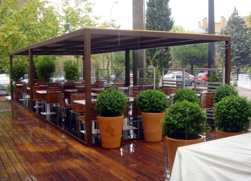 Estructuras para terrazas terrazas tolder bar - Techos para terrazas precios ...