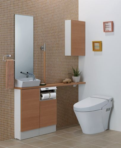 Lixil トイレ トイレ手洗い キャパシア 施工イメージ 0 5坪 ベッセル型3 トイレのデザイン トイレ インテリア Lixil トイレ