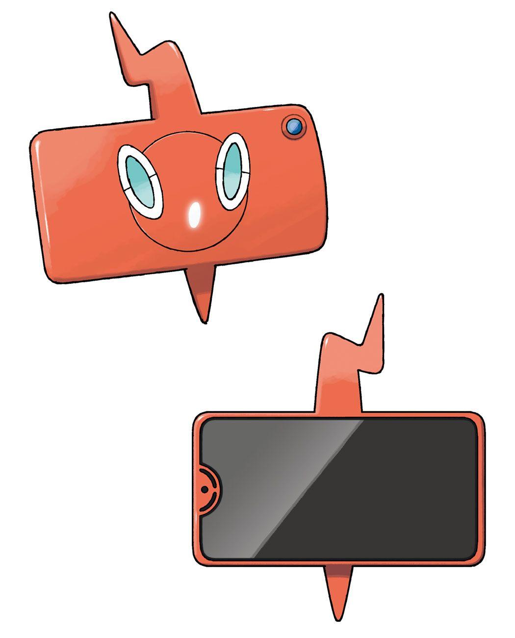 Rotom Phone Screen Art from Pokémon Sword and Shield art