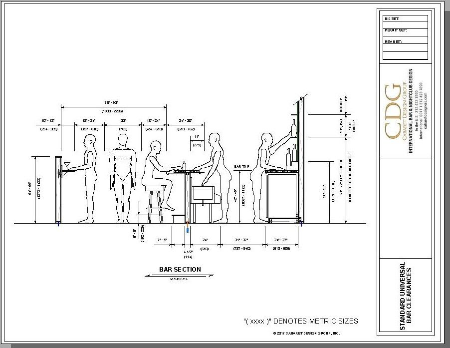 What are the best dimensions for bar design if you follow