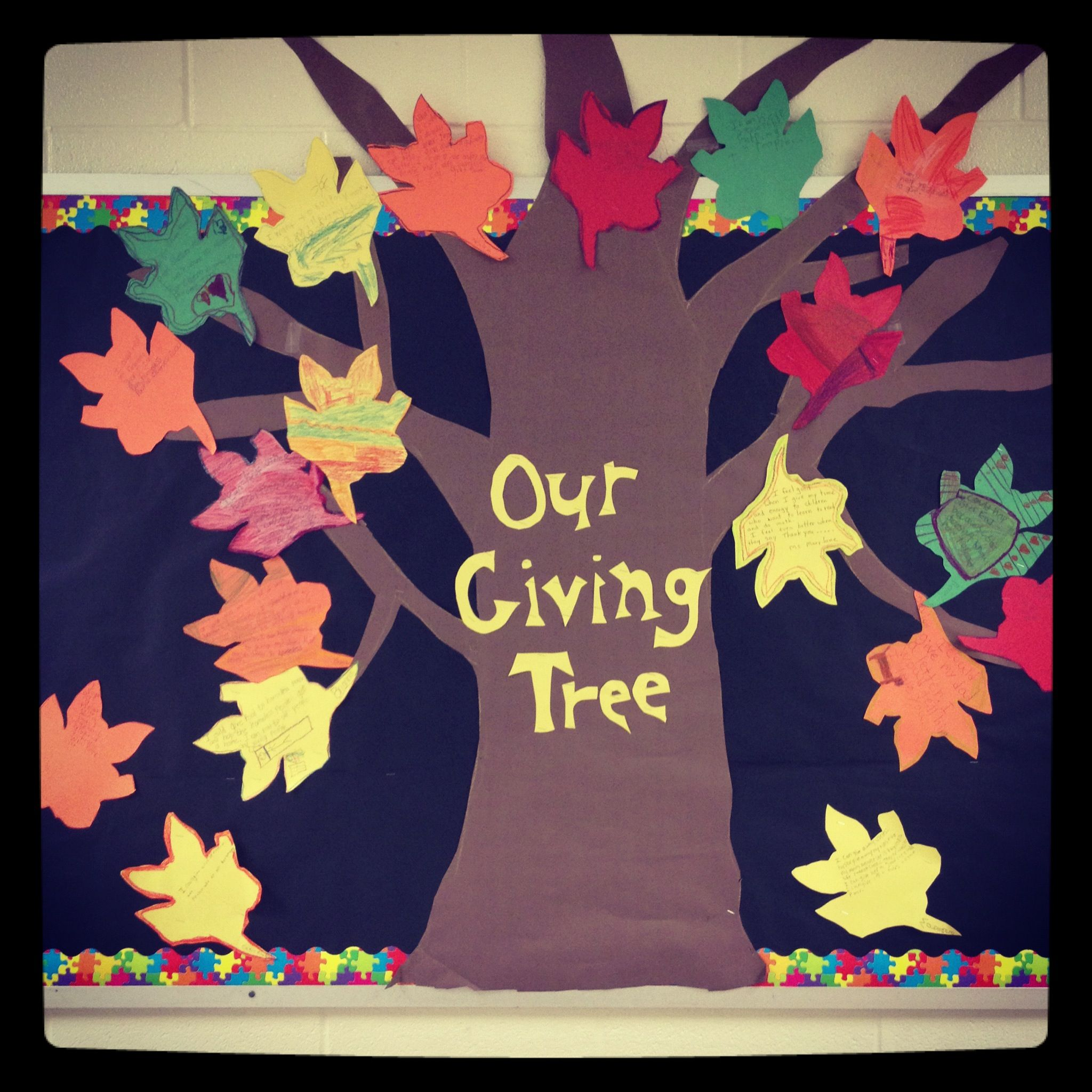 Our Giving Tree Based On The Shel Silverstein Book The