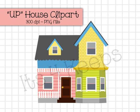 Up House Clipart Instant Download Png Etsy House Clipart Disney Up House Clip Art