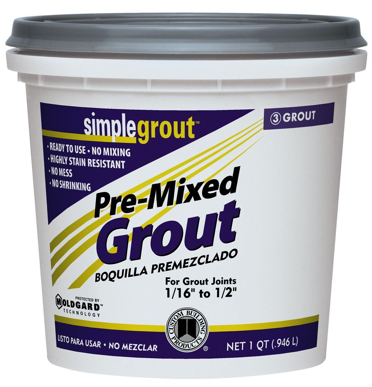 Grout Premx Alabstr Premixed grout