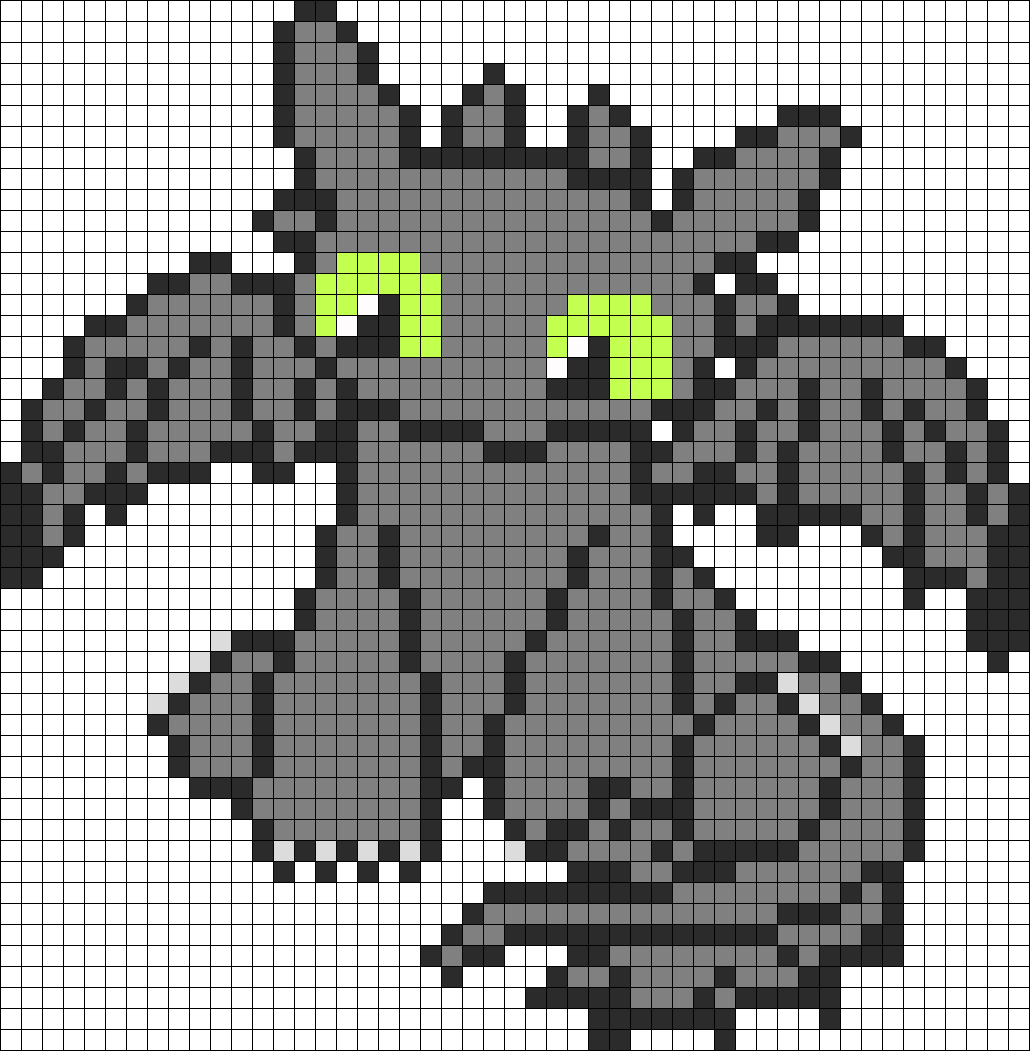 Cutie How To Train Your Dragon Toothless perler bead pattern ...