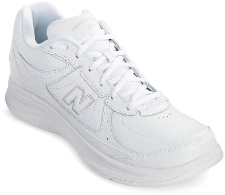 Mens White New Balance 577 Walking