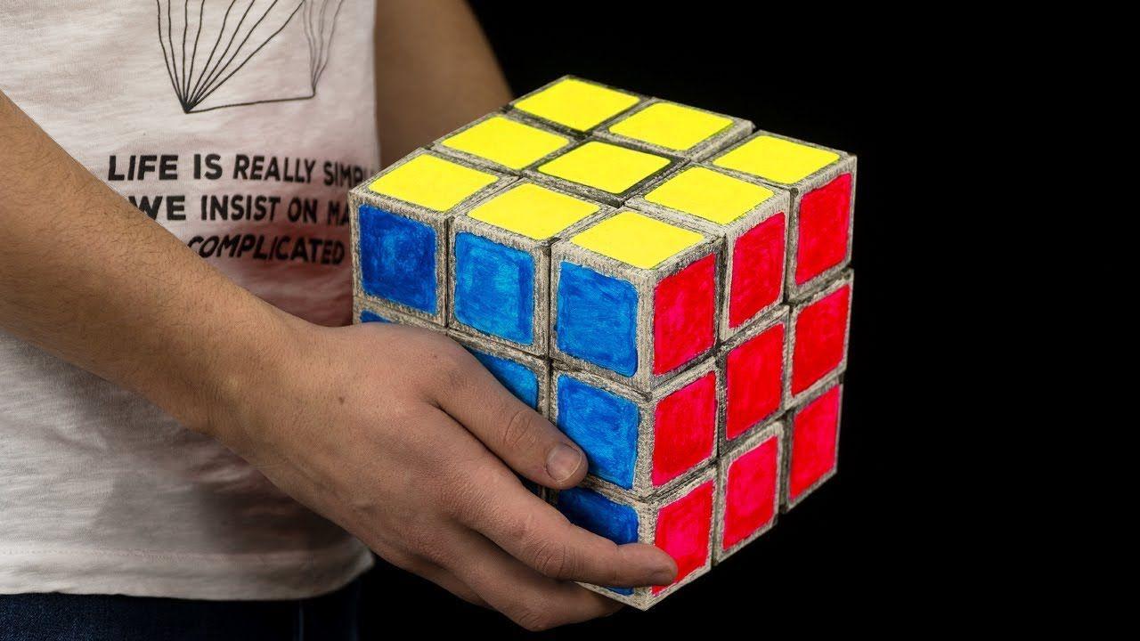 How To Make Giant Paper Rubik S Cube Diy Rubiks Cube Cube