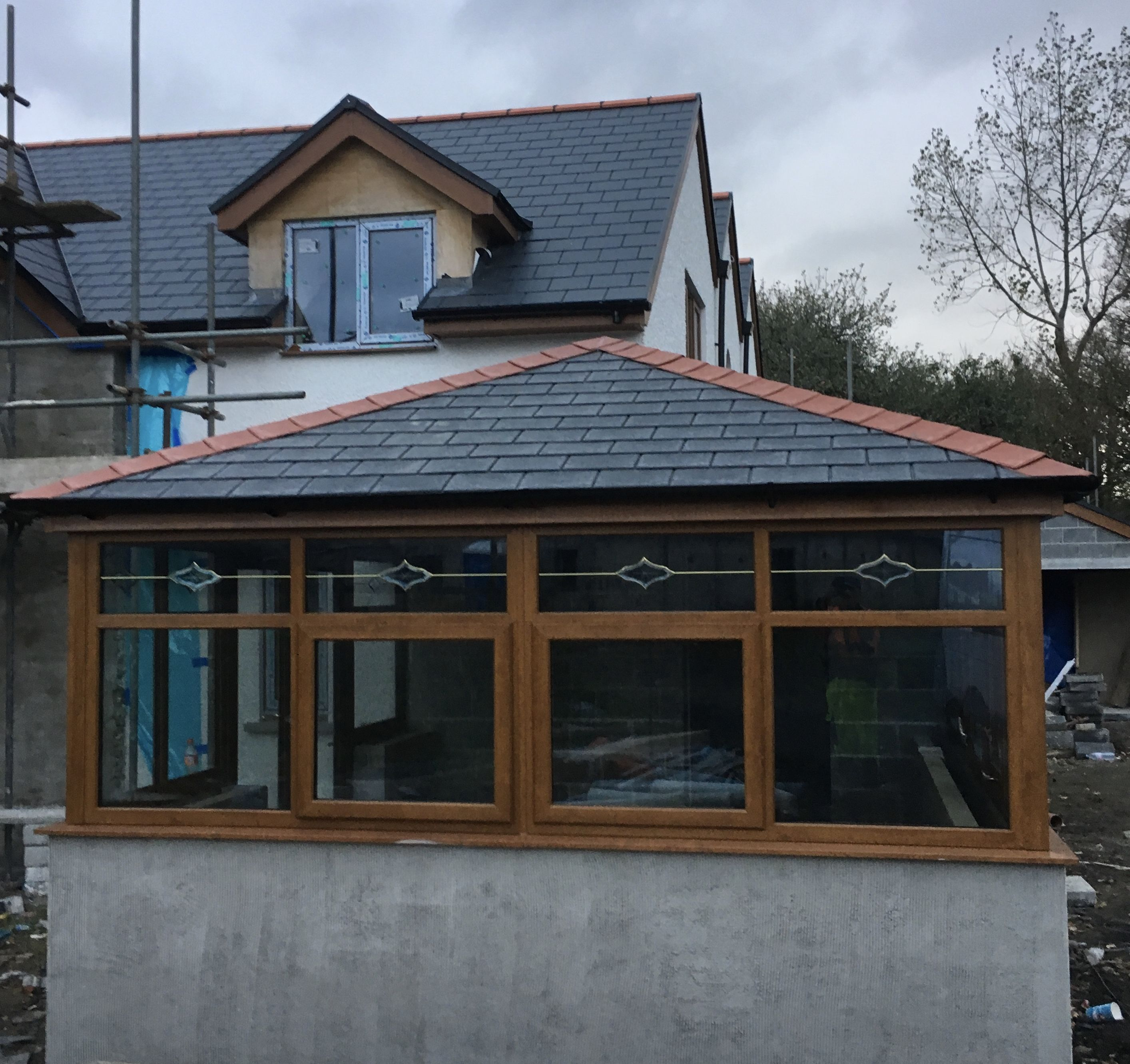 We Pride Ourselves On Great Customer Service On A Recent Installation Going The Extra Mile To Help Complete This Warm Ro Warm Roof Double Glazing Ridge Tiles