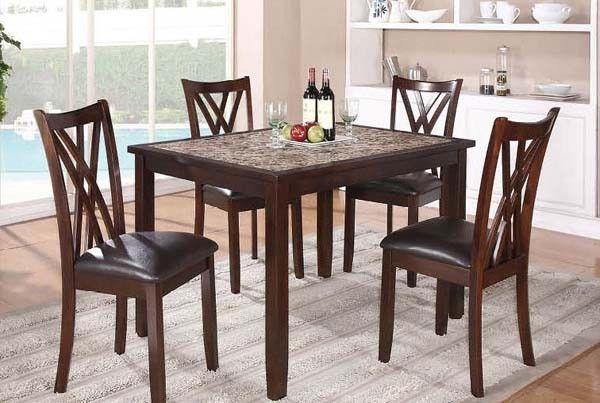 Mariano Furniture  Kelly 5 Piece Dining Set In Dark Cherry  Bm46 Alluring Dark Cherry Dining Room Set Review