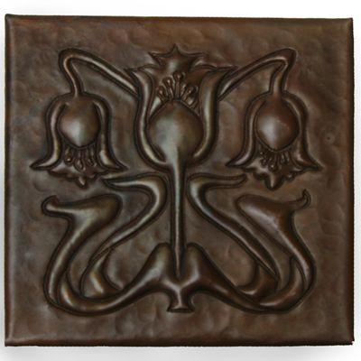 TL335   Floral A Design Copper Tile | Copper Sinks Direct If I Ever Get A