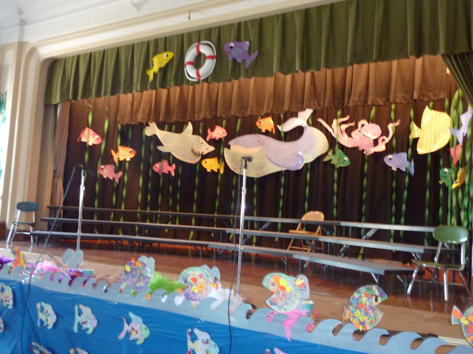 Ocean stage decoration | Kindergarten graduation ...