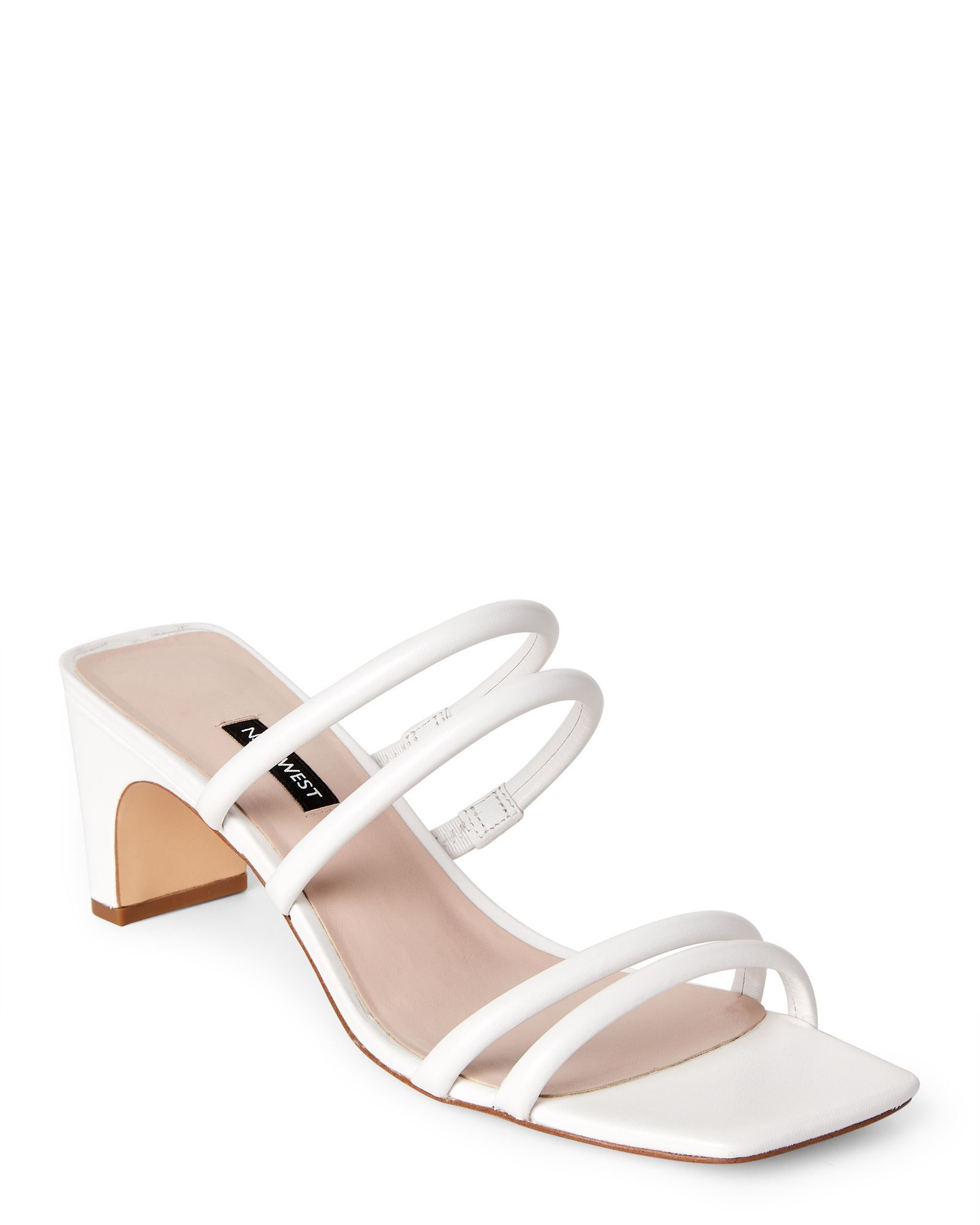 Nine West White Nakato Leather Tubular Strap Sandals More Than 9k Of Strappy Sandals Outfits F In 2021 Womens Shoes Wedges White Strappy Sandals Strappy Sandals Outfit