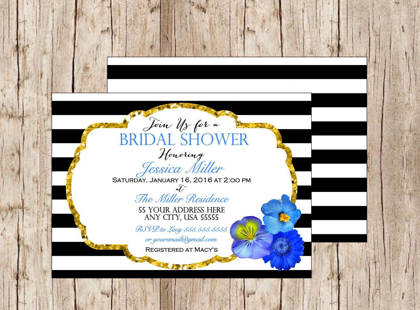 Black And Gold Invitation Black And Gold Wedding Invitation Black