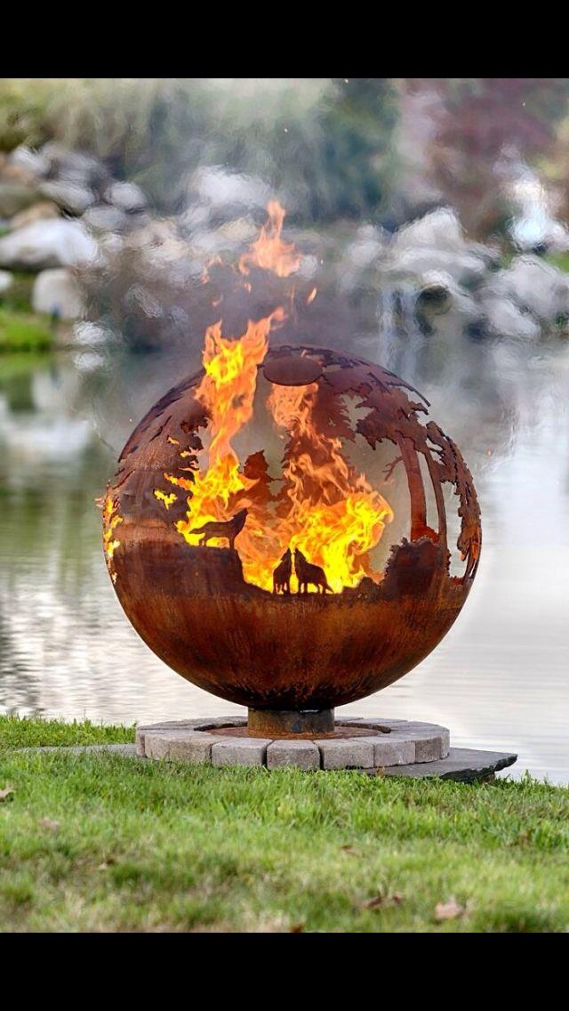 Feuerkugel art impression pinterest feuerkugel - Feuerkugel garten ...