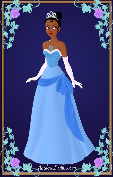 Tiana blue dress by on for Princess tiana wedding dress