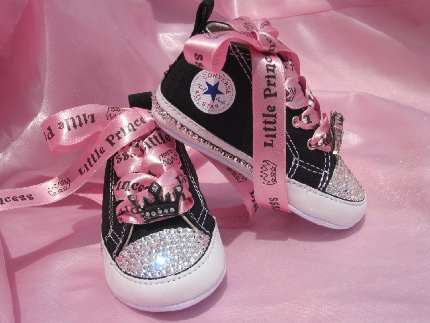 PINK PRINCESS Infant Baby Girl Converse by angelareesestudio