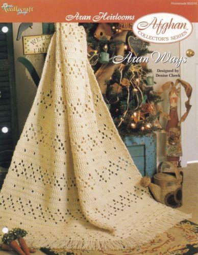 Rose Quilt Afghan Quilt-Look TNS Crochet Pattern Leaflet