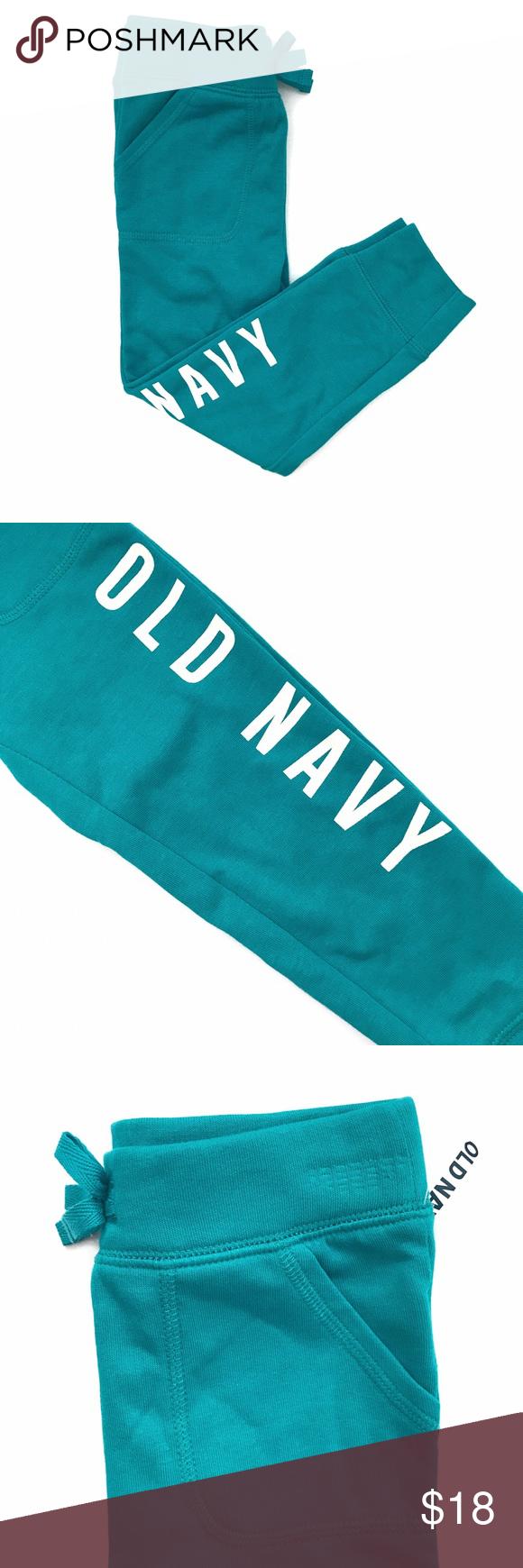 SOLD🚫 Teal Sweatpants Sweatpants, Teal, Navy logo
