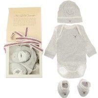 481955541ba Gant Baby Boys Grey Bodysuit Hat   Booties Gift Set