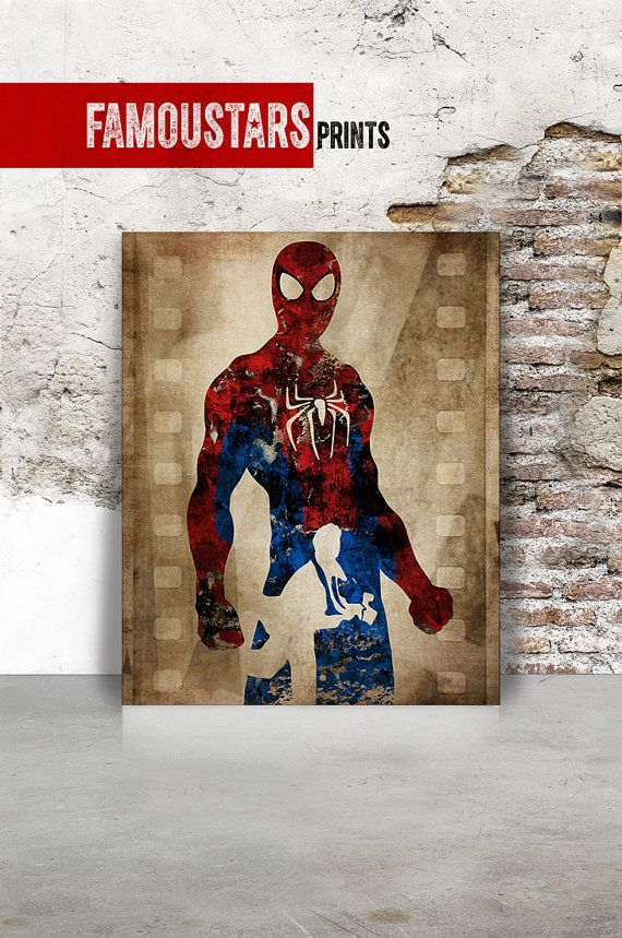 Spiderman Print DC Comics Poster Justice League Peter Parker Wall Art Home  Decor Comic FamouStars