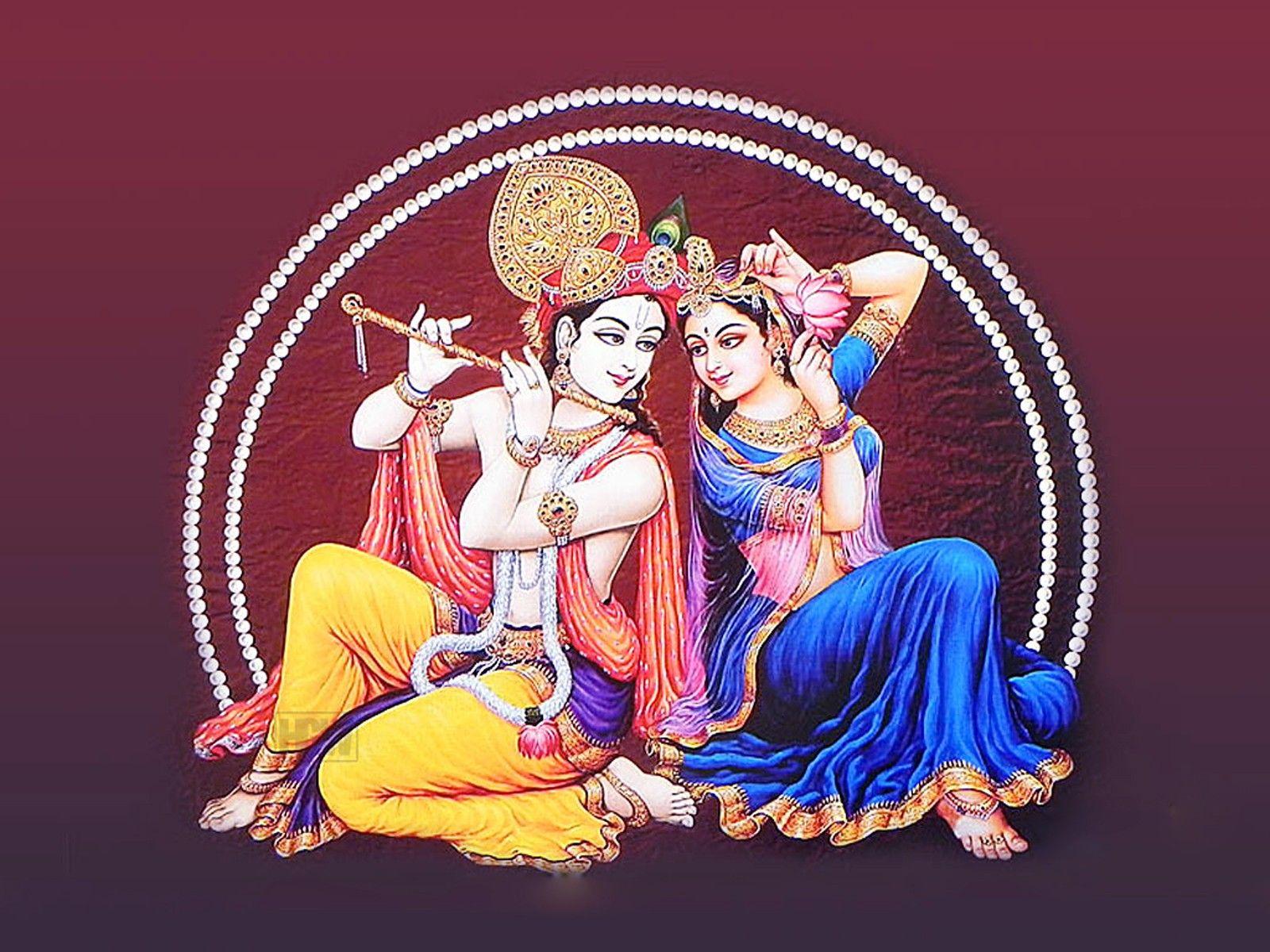 Bhagwan Krishna With Radha Hd Wallpaper Free 1080p Krishna Wallpaper Krishna Images Radha Krishna Wallpaper