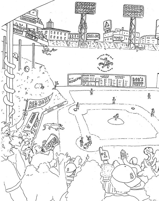 Free printable red sox coloring pages ~ red sox crafts for kids - Google Search | Drawing ...