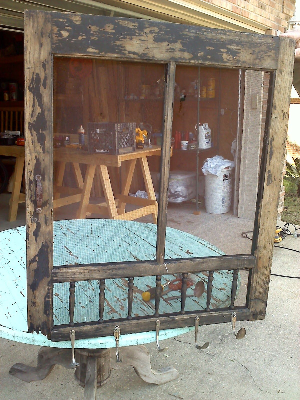 Repurposing Old Screen Doors Old Door Old Silverware New