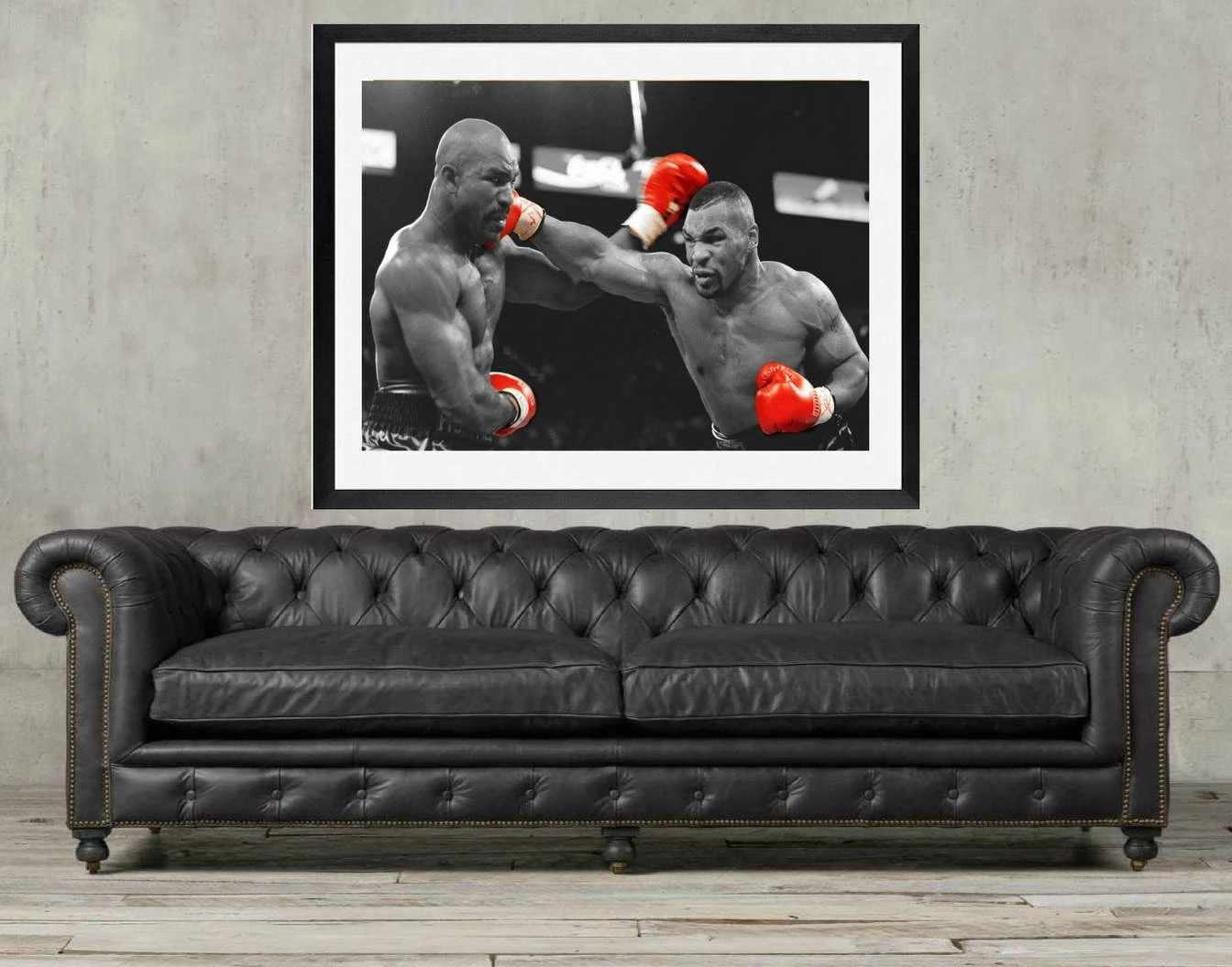 Mike Tyson Framed Art Poster Holyfield Boxing Framed Art Decor Framed Art Poster Framed Wall Art Wall Art Prints