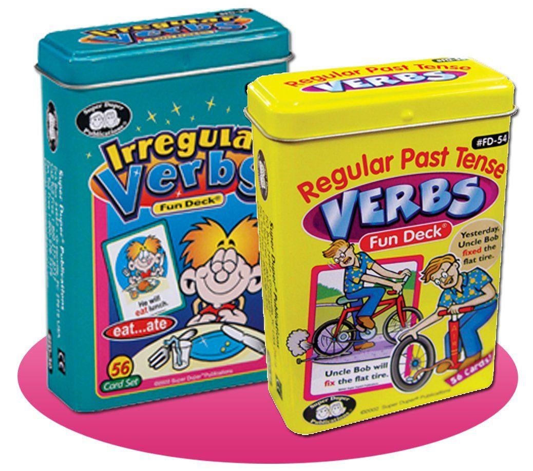 Regular Past Tense Verbs and Irregular Verbs Fun Deck Cards Combo ...