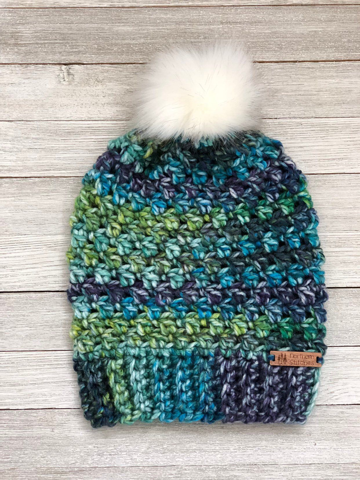Handmade Bay View Beanie - Crochet Winter Hat - Faux Fur Pom - Fall Hat - Winter  Hat - Hat - Beanie - Crochet Beanie 3278b4dee38
